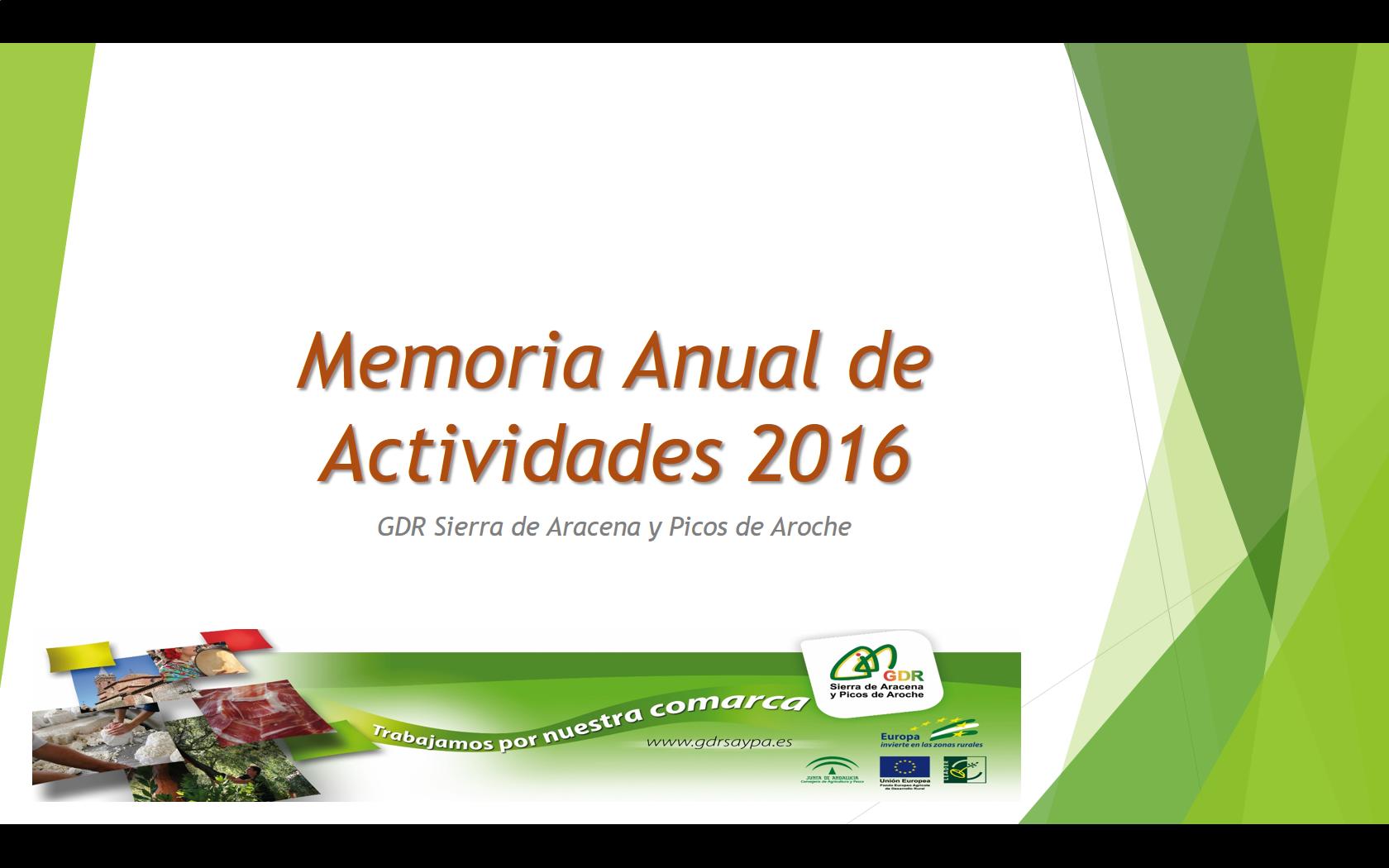 El GDR presenta su Memoria de Actividades 2016 ante la Asamblea General de Socios